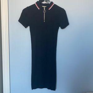 Urban Outfitters black polo bodycon mini dress